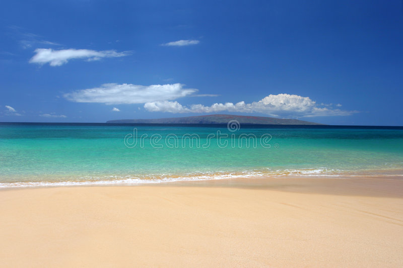 Immaculate tropical beach. Immaculate beach in Maui, Hawaii, USA royalty free stock images