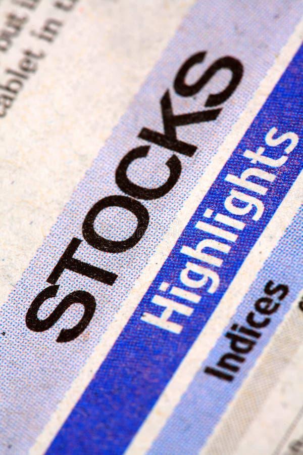 Immagazzina il giornale immagini stock