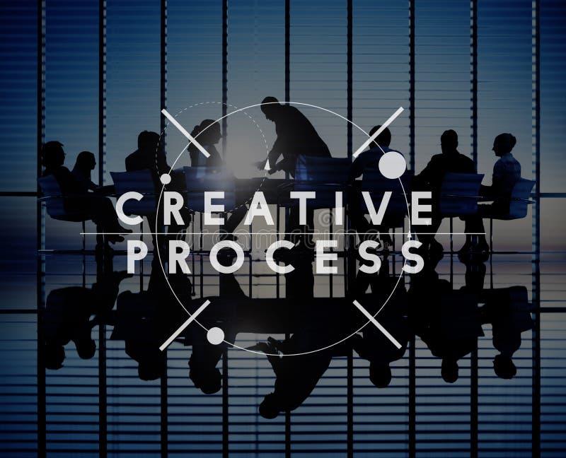 Immaginazione trattata creativa Concep dell'innovazione di progettazione di creatività fotografia stock
