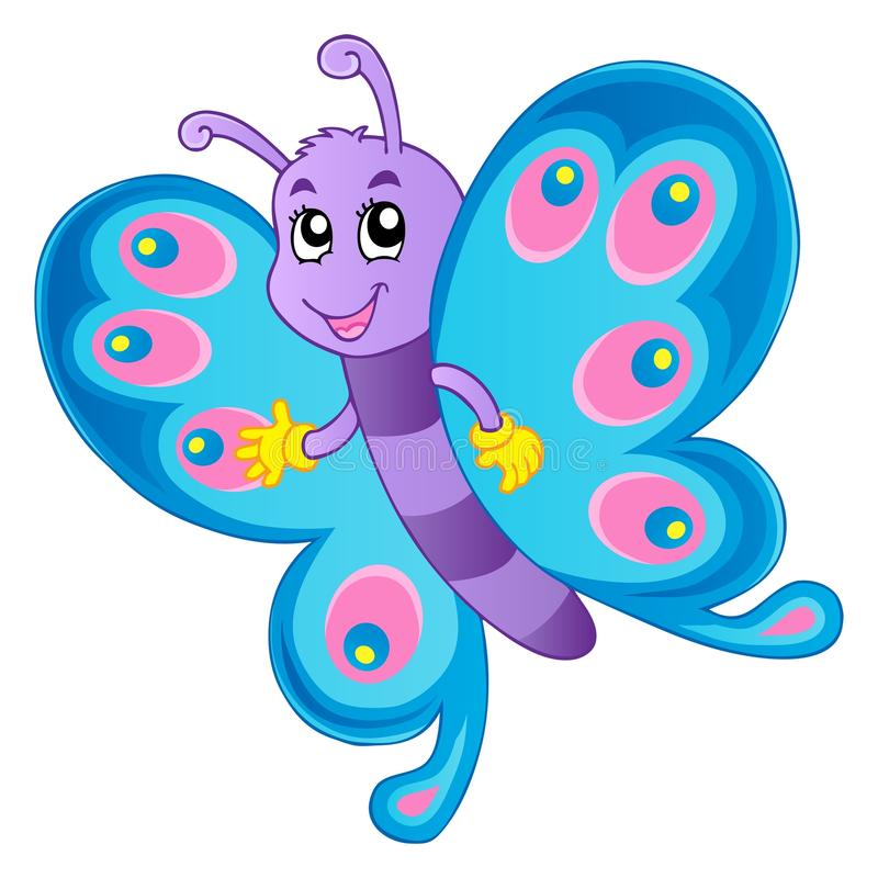 Immagine 1 di tema della farfalla illustrazione di stock
