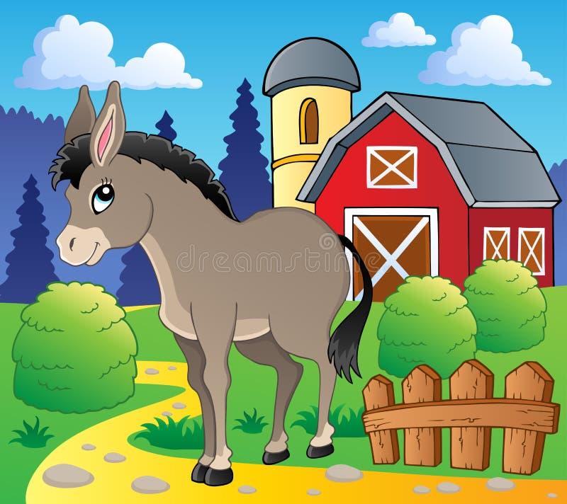 Immagine 2 di tema dell'asino illustrazione di stock