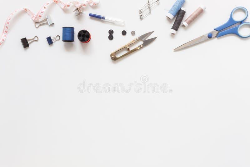 Immagine aerea di disposizione piana degli elementi dello stilista fotografie stock