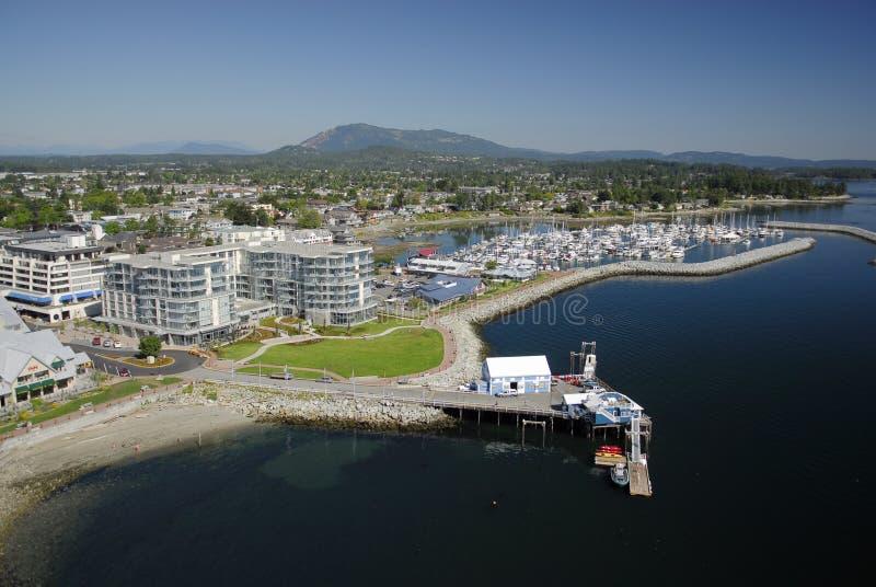 Immagine aerea di Sidney, isola di Vancouver, BC, il Canada immagini stock