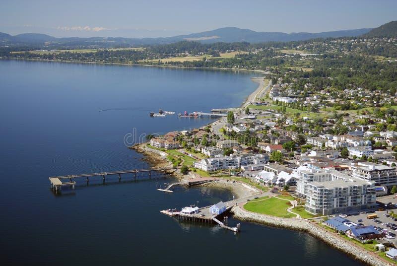 Immagine aerea di Sidney, isola di Vancouver, BC, il Canada fotografie stock libere da diritti