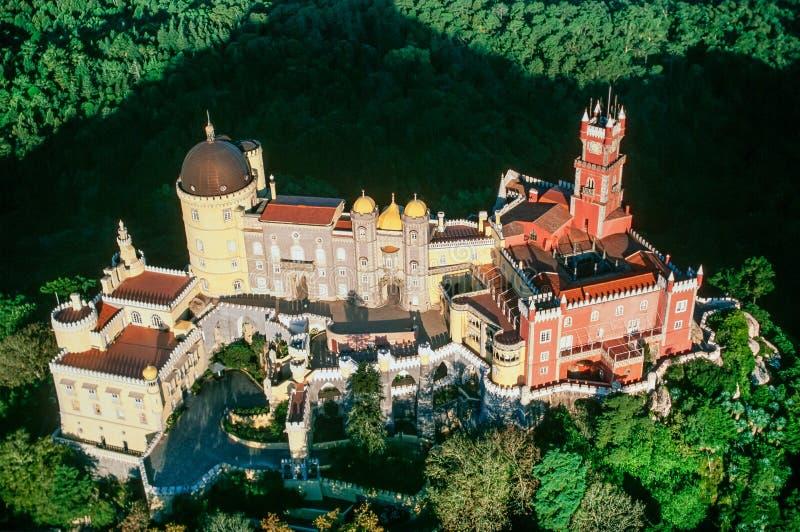Immagine aerea di Sintra Portogallo immagine stock