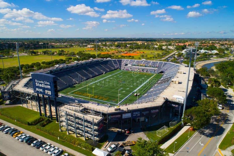 Immagine aerea Riccardo Silva Stadium Miami FIU fotografie stock libere da diritti