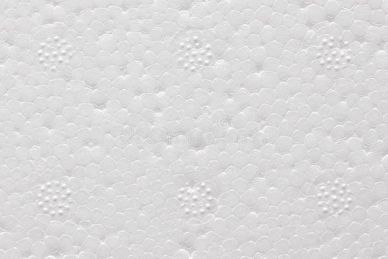 Immagine alta vicina di alta qualità del polistirene espanso bianco immagini stock