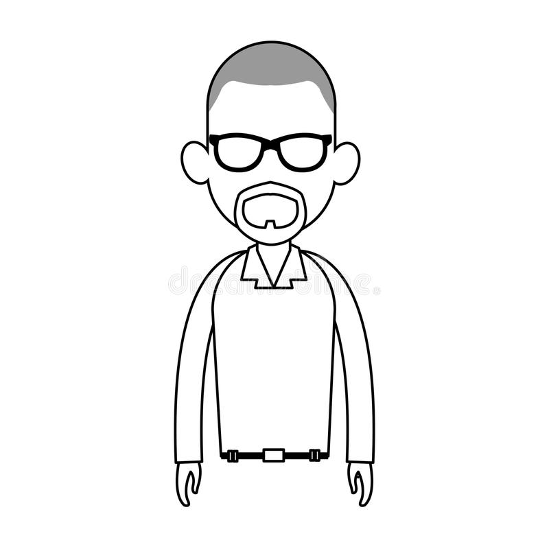 immagine anonima dell'icona del fumetto dell'uomo illustrazione di stock