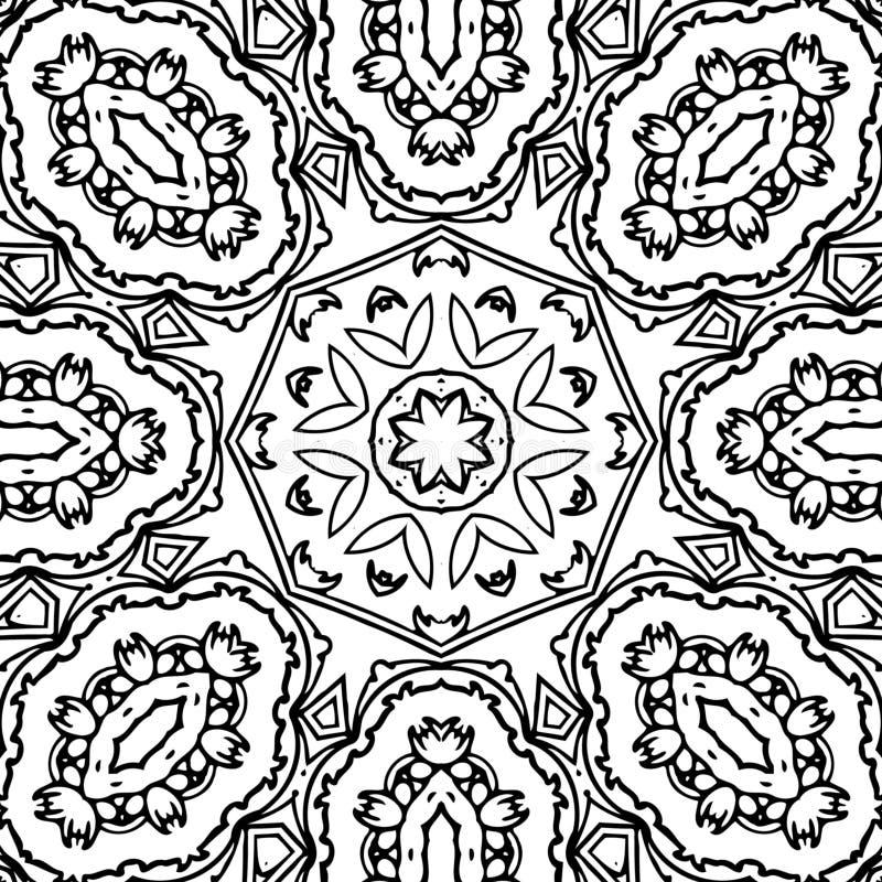Immagine astratta in bianco e nero del modello immagini stock libere da diritti