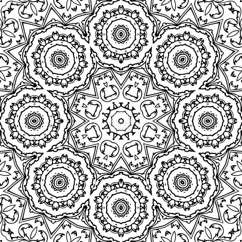 Immagine astratta in bianco e nero del modello fotografia stock