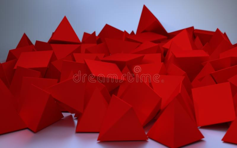 Immagine astratta dei triangoli rossi illustrazione vettoriale