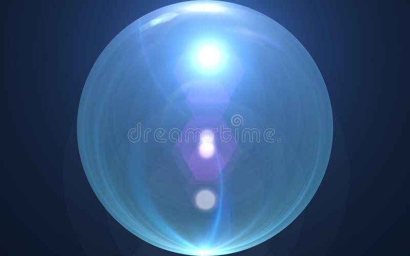 Immagine astratta del chiarore di illuminazione di esplosione solare l'annata shinny l'effetto Chiarore della luce del globo Glob immagine stock libera da diritti