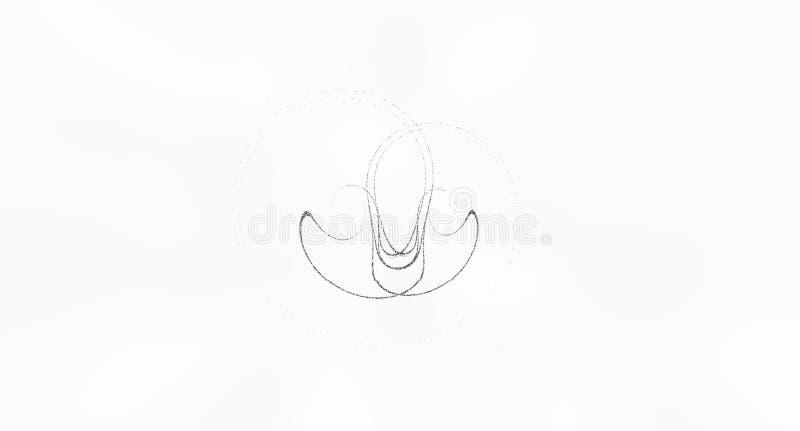Immagine astratta delle particelle nere su un fondo bianco per uso come carta da parati illustrazione di stock