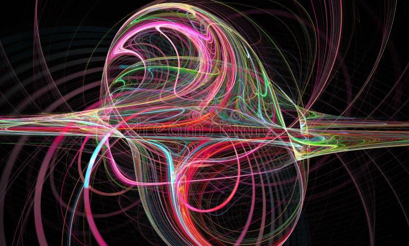 Immagine astratta di frattalo wallpaper Materiale illustrativo digitale creativo immagine stock libera da diritti