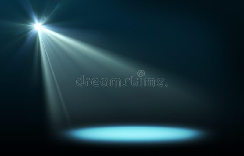 Immagine astratta di illuminazione di concerto illustrazione vettoriale
