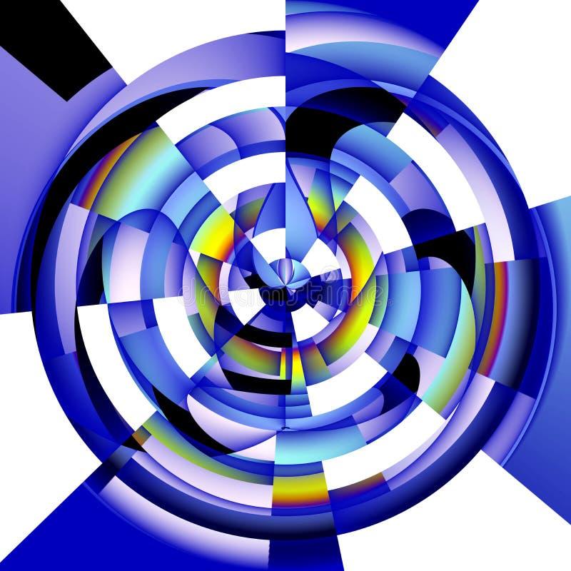 Immagine astratta radiale su fondo bianco royalty illustrazione gratis