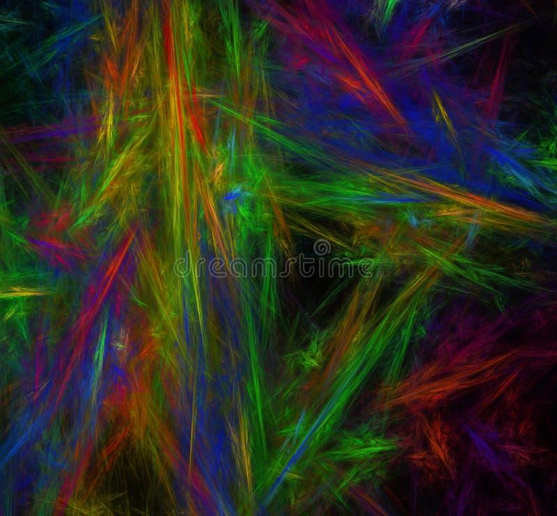 Immagine astratta variopinta di frattale wallpaper Materiale illustrativo digitale creativo fotografia stock libera da diritti