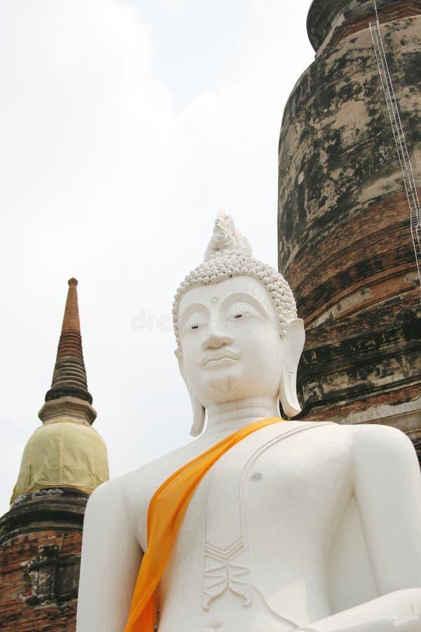 Immagine bianca di Buddha immagini stock