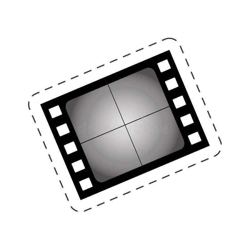 immagine in bianco di film del cinema della striscia di pellicola illustrazione di stock