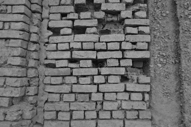 Immagine in bianco e nero di struttura della parete fotografia stock