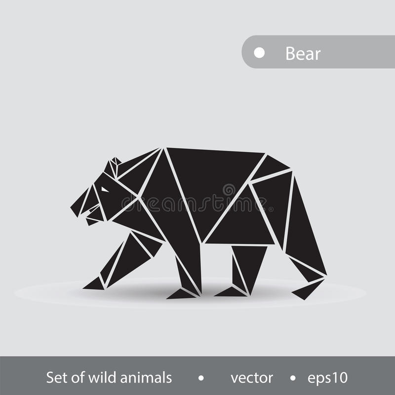 Immagine in bianco e nero di un orso Illustrazione di un performe dell'orso illustrazione di stock