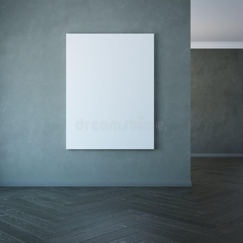 Immagine in bianco sulla parete, rappresentazione 3d immagine stock