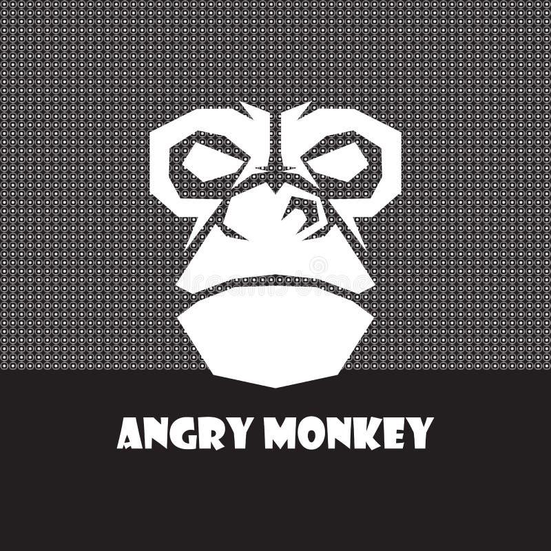 Immagine capa di vettore della scimmia immagine stock libera da diritti