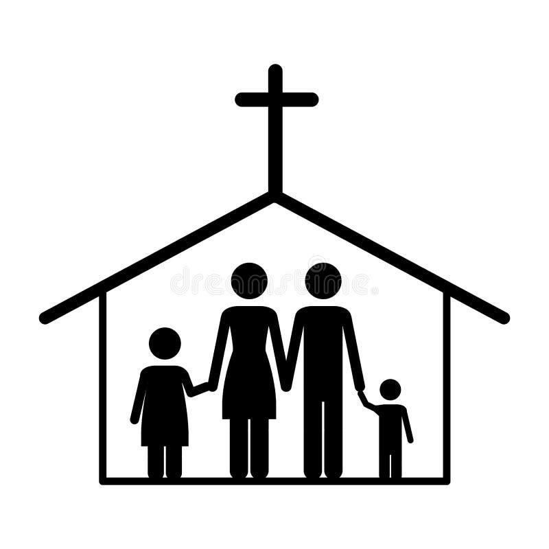 Immagine cattolica dell'icona della famiglia royalty illustrazione gratis
