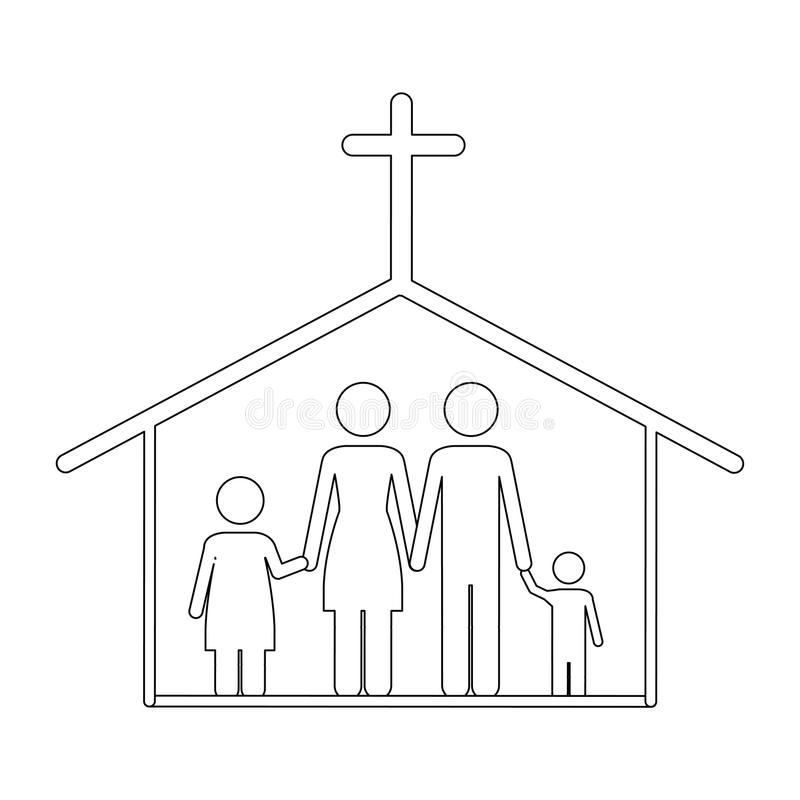 Immagine cattolica dell'icona della famiglia illustrazione di stock