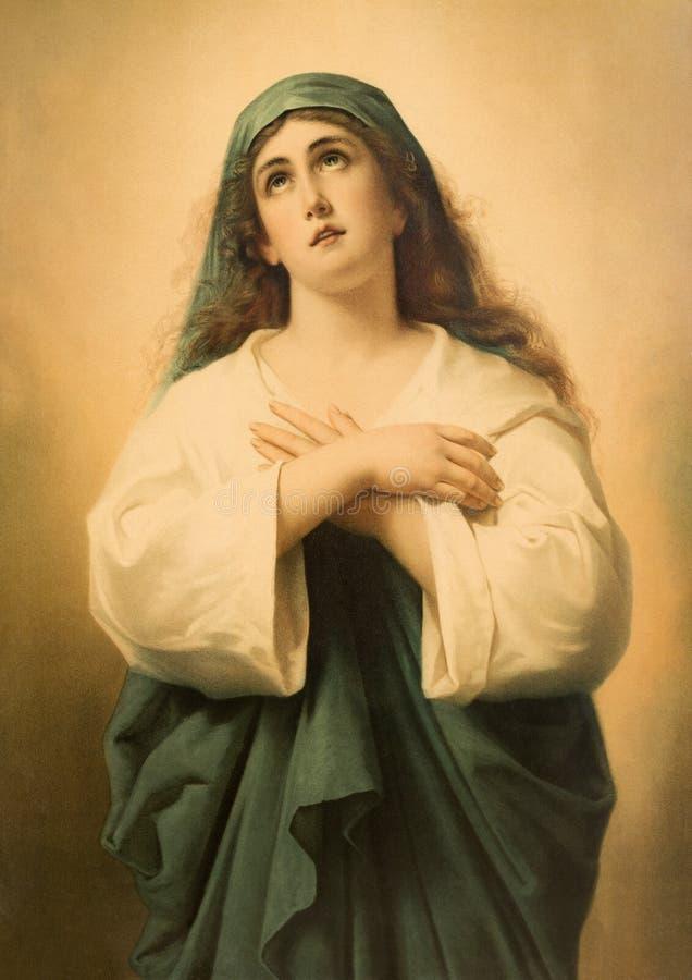Immagine cattolica tipica di Jesus Christ immagini stock libere da diritti