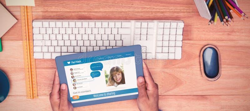 Immagine composita 3d dell'interfaccia dell'applicazione di chiacchierata fotografie stock libere da diritti