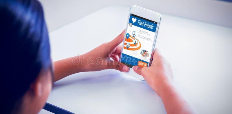 Immagine composita 3d dell'interfaccia dell'applicazione di chiacchierata royalty illustrazione gratis