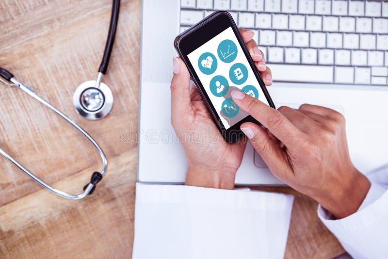 Immagine composita del app medico immagini stock