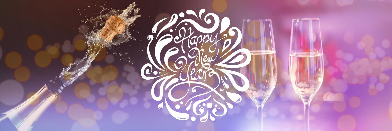 Immagine composita del buon anno elegante immagini stock