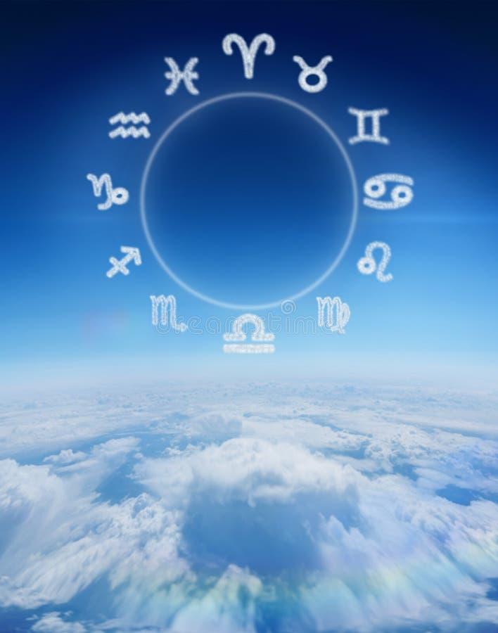 Immagine composita del grafico dello zodiaco royalty illustrazione gratis