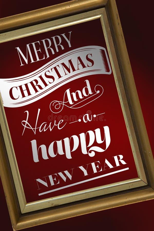 Immagine composita del messaggio di Buon Natale royalty illustrazione gratis