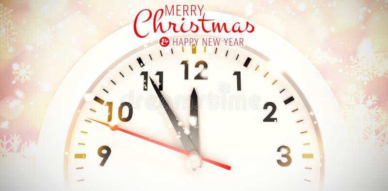 Immagine composita del messaggio di Buon Natale illustrazione vettoriale