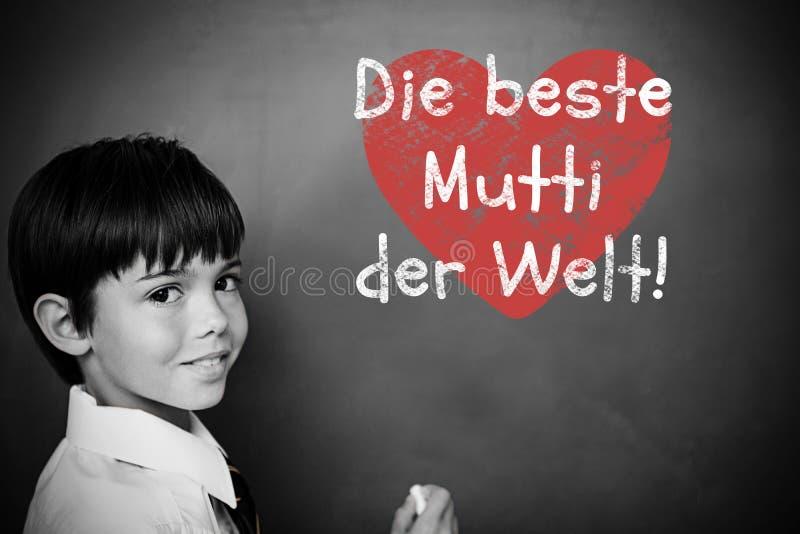 Immagine composita del messaggio tedesco di giorno di madri illustrazione di stock