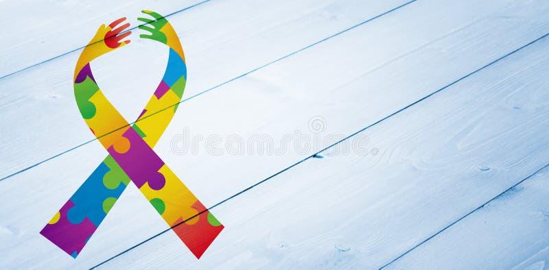 Immagine composita del nastro di consapevolezza di autismo royalty illustrazione gratis