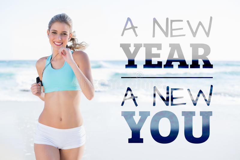 Immagine composita del nuovo anno nuova voi immagine stock libera da diritti