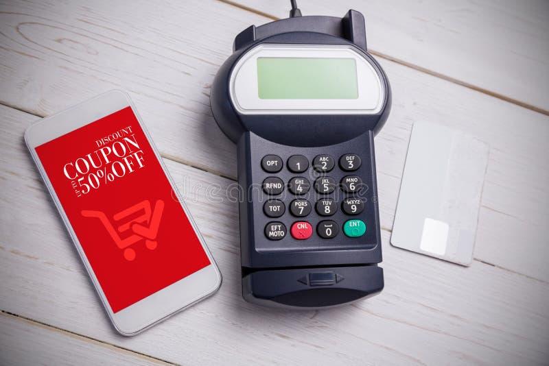 Immagine composita del pagamento mobile immagine stock