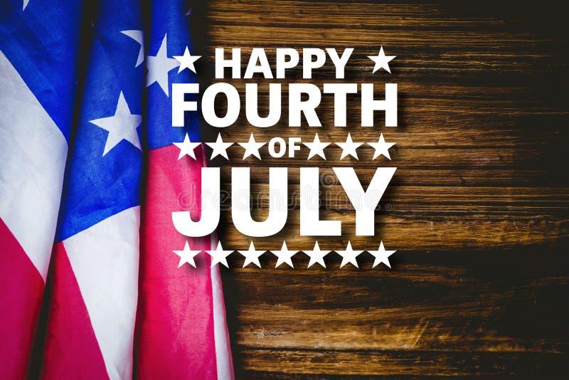 Immagine composita del quarto felice di luglio illustrazione vettoriale