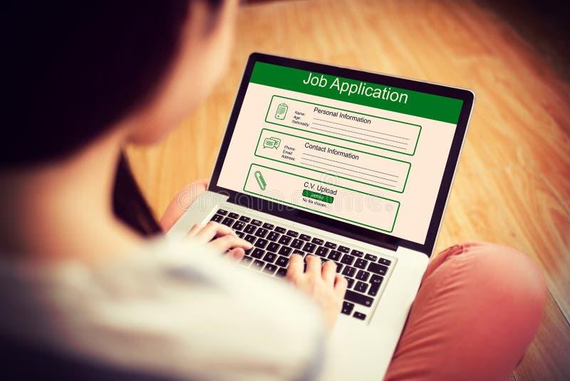 Immagine composita dell'immagine digitalmente generata dell'applicazione di lavoro immagine stock libera da diritti
