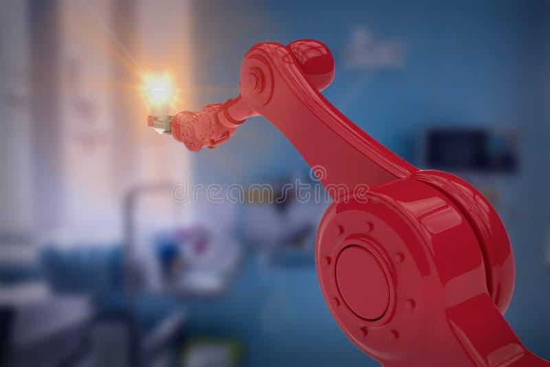 Immagine composita dell'immagine grafica del filamento robot 3d della tenuta della mano illustrazione di stock