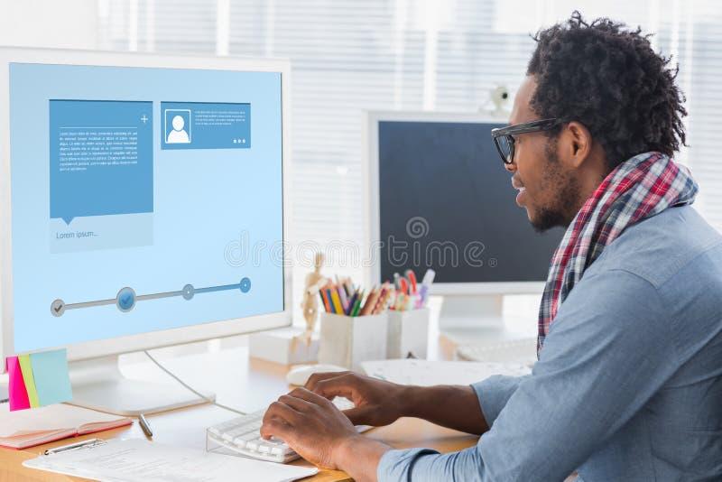 Immagine composita dell'interfaccia del sito Web immagini stock