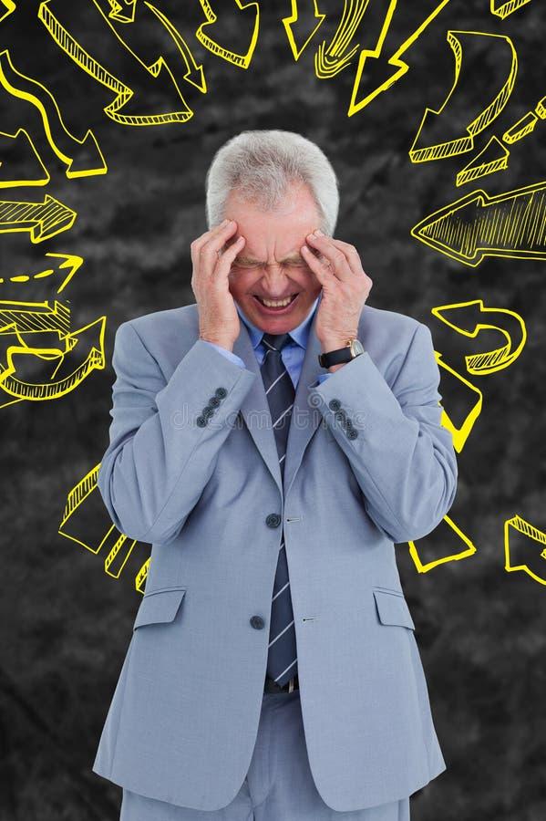 Immagine composita dell'uomo con l'emicrania royalty illustrazione gratis