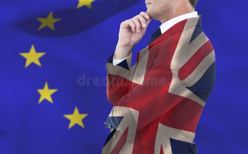 Immagine composita dell'uomo d'affari elegante nella posa del vestito immagine stock libera da diritti