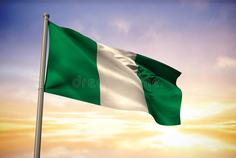 Immagine composita della bandiera nazionale della Nigeria illustrazione di stock