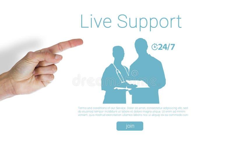 Immagine composita della mano potata di indicare dell'uomo fotografie stock libere da diritti