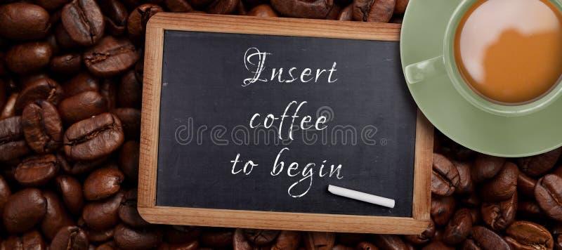 Immagine composita della tazza di caffè verde fotografia stock
